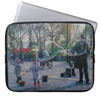 The Bubble Man Neoprene Laptop Sleeve 15""