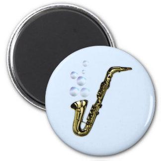 The Bubble Saxophone 6 Cm Round Magnet