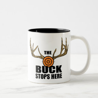 The Buck Stops Here Two-Tone Mug
