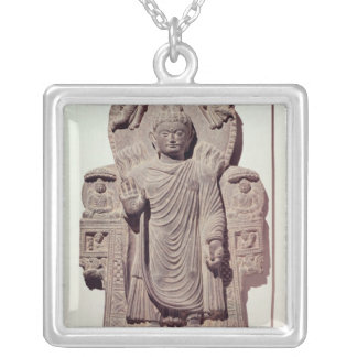 The Buddha of the Great Miracle Silver Plated Necklace