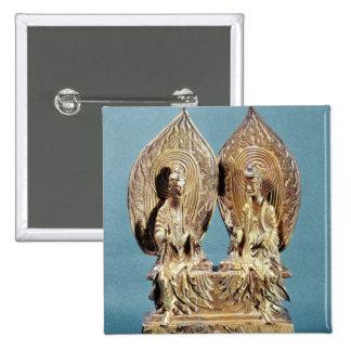The Buddhas Prabhutaratna and Sakyamuni 15 Cm Square Badge