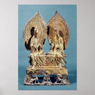 The Buddhas Prabhutaratna and Sakyamuni Poster