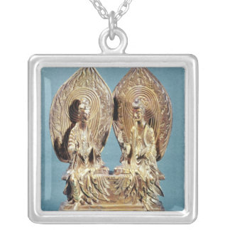 The Buddhas Prabhutaratna and Sakyamuni Silver Plated Necklace