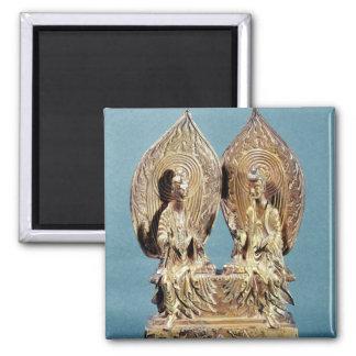 The Buddhas Prabhutaratna and Sakyamuni Square Magnet