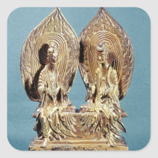 The Buddhas Prabhutaratna and Sakyamuni Square Sticker