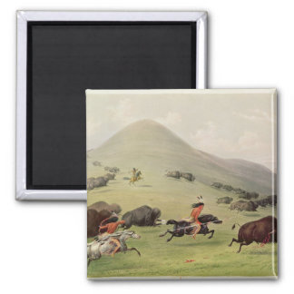 The Buffalo Hunt, c.1832 Magnet
