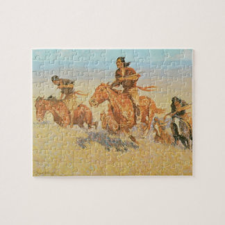 The Buffalo Runners, Big Horn Basin by Remington Jigsaw Puzzle