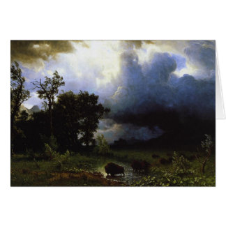 The Buffalo Trail by Albert Bierstadt Card