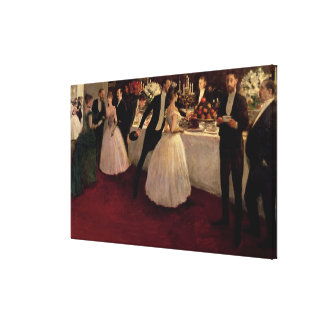 The Buffet, 1884 Stretched Canvas Print