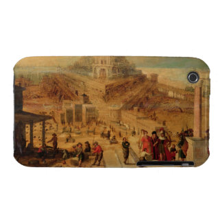 The building of the Tower of Babel (panel) iPhone 3 Cover