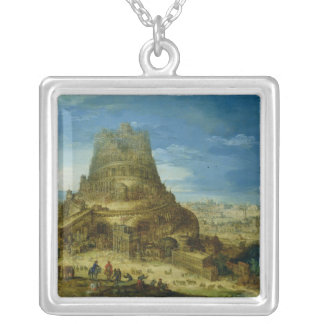 The Building of the Tower of Babel Silver Plated Necklace