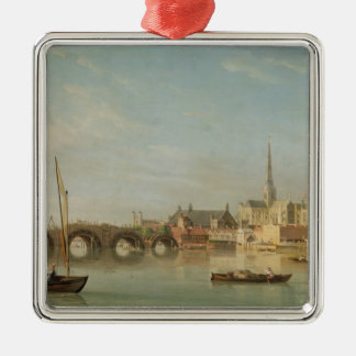 The Building of Westminster Bridge with an imagina Christmas Ornament