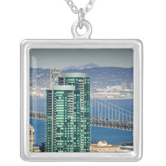 The buildings of San Francisco's South Beach Silver Plated Necklace