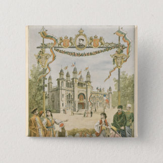 The Bulgarian Pavilion at the Universal 15 Cm Square Badge