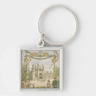The Bulgarian Pavilion at the Universal Silver-Colored Square Key Ring