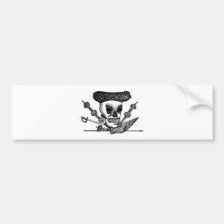 """""""The Bull Fighting Calavera"""" Mexico c. late 1800's Bumper Stickers"""