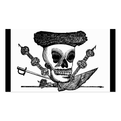 """""""The Bull Fighting Calavera"""" Mexico c. late 1800's Business Card Templates"""