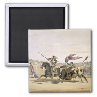 The Bull Following up the Charge, 1865 (colour lit Magnet