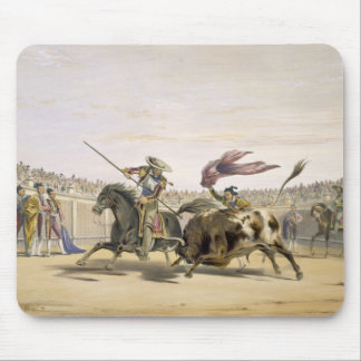 The Bull Following up the Charge, 1865 (colour lit Mouse Mat