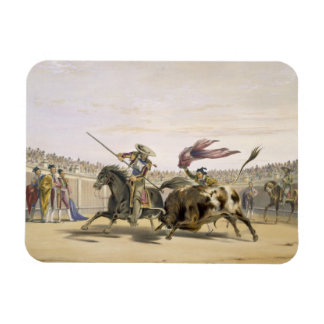 The Bull Following up the Charge, 1865 (colour lit Rectangular Photo Magnet