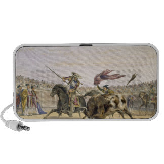 The Bull Following up the Charge, 1865 (colour lit Mini Speaker