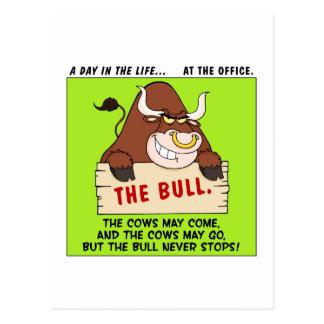 The Bull Here Never Stops Postcard