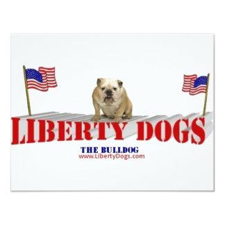 The Bulldog with Flags 11 Cm X 14 Cm Invitation Card