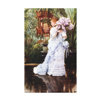 The Bunch of Lilacs by James Tissot Canvas Print