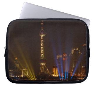 The Bund (waterfront) in Shanghai. Looking Laptop Sleeve