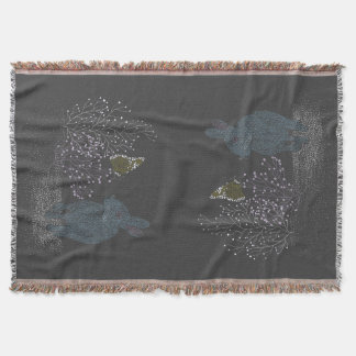 The Bunny and the Butterfly Throw Blanket
