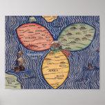 THE BUNTING CLOVER LEAF MAP OF JERUSALEM (1581) POSTER