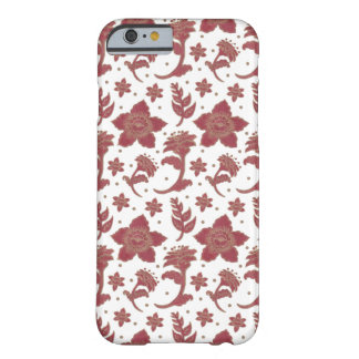 The Burgundy Batik Flowers Barely There iPhone 6 Case