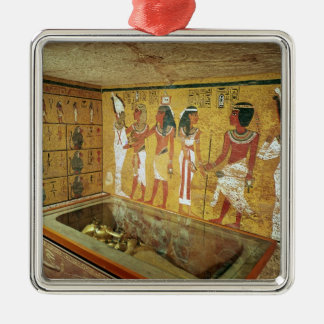 The burial chamber in the Tomb of Tutankhamun Christmas Ornament