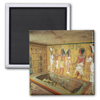 The burial chamber in the Tomb of Tutankhamun Square Magnet