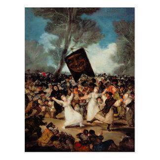 The Burial of the Sardine  c.1812-19 Postcard