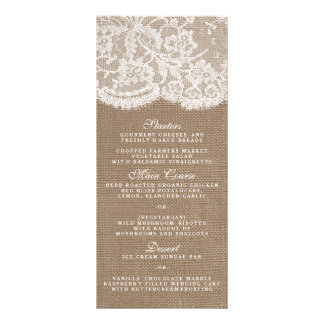 The Burlap & Lace Collection Menu Templates