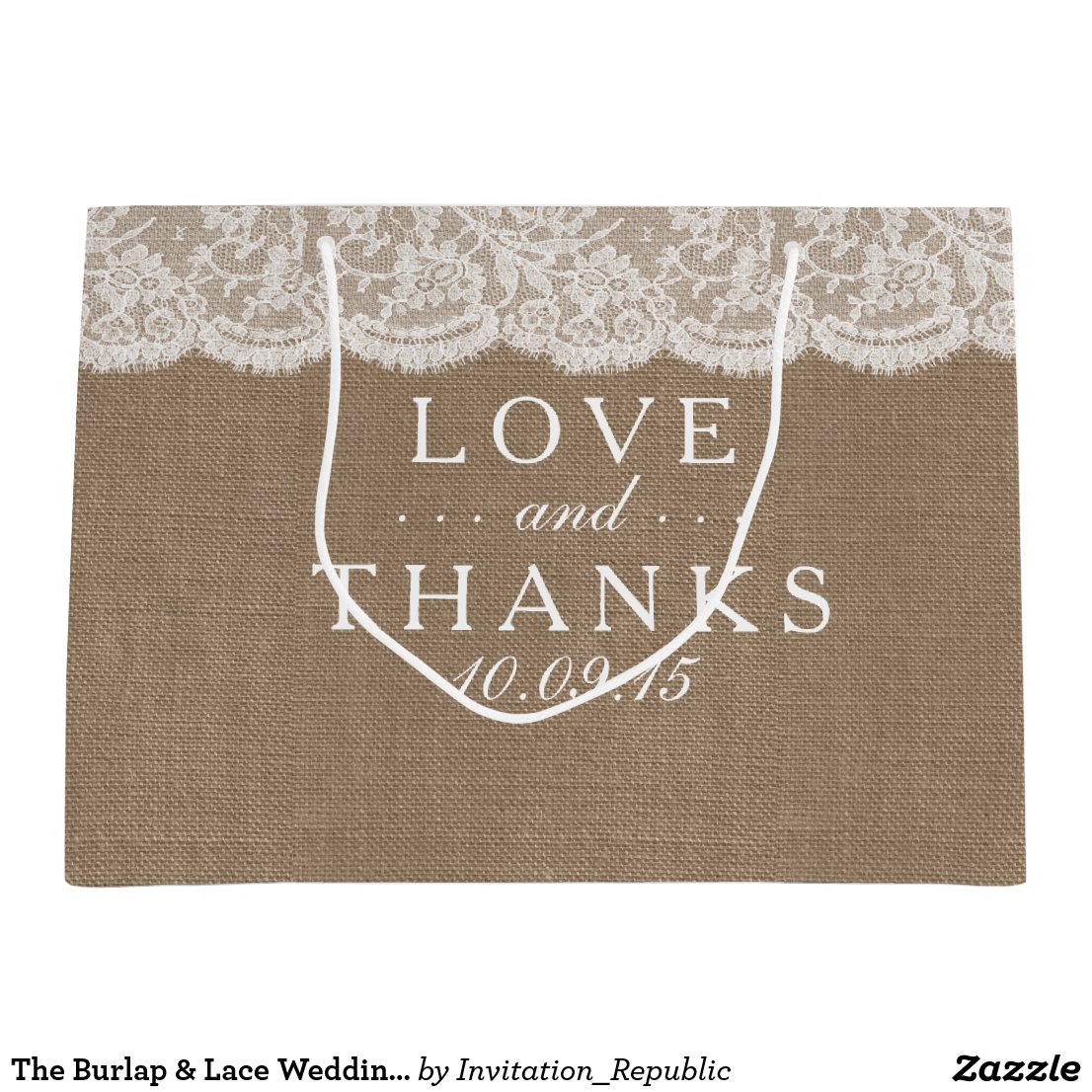 The Burlap & Lace Wedding Collection Gift Bags