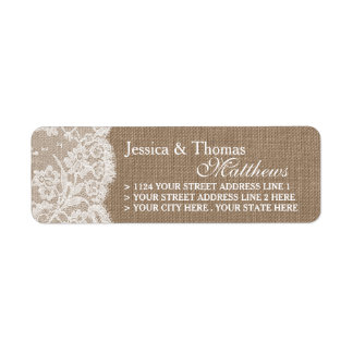 The Burlap & Lace Wedding Collection Labels