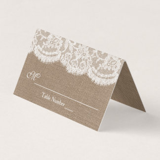 The Burlap & Lace Wedding Collection Place Card