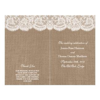 The Burlap & Lace Wedding Collection Programs 21.5 Cm X 28 Cm Flyer