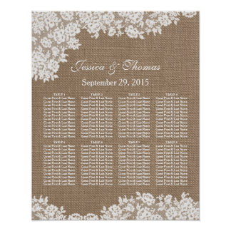 The Burlap & Lace Wedding Collection Seating Chart