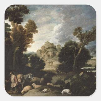 The Burning Bush, c.1635 Square Sticker
