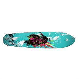 The Burning Crow Skateboard Deck
