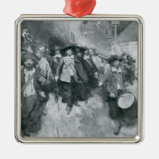 The Burning of Jamestown Christmas Ornament