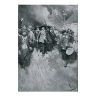 The Burning of Jamestown Poster
