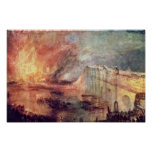The Burning Of The Houses Of Parliament By Turner Poster