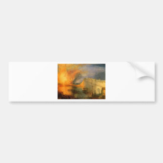 The Burning of the Houses of Parliament by William Bumper Sticker
