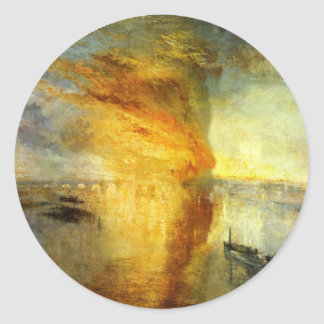 The Burning of the Houses of Parliament by William Round Sticker