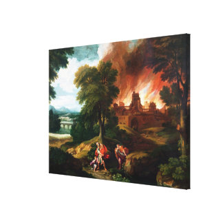 The Burning of Troy Canvas Print