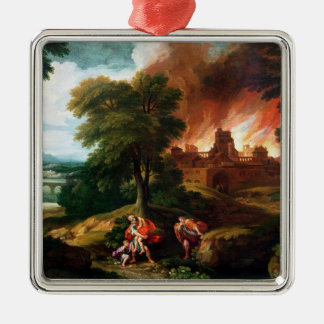 The Burning of Troy Christmas Ornament